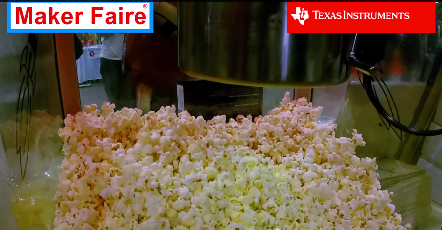 Popcorn machine that sends LIVE Tweets, internet of things