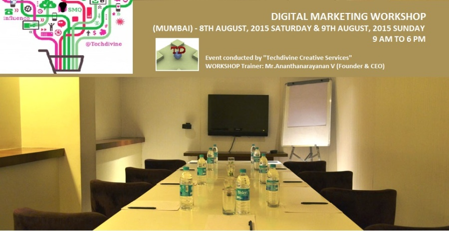 Digital marketing, social media, SEO and Blogging workshop in Mumbai
