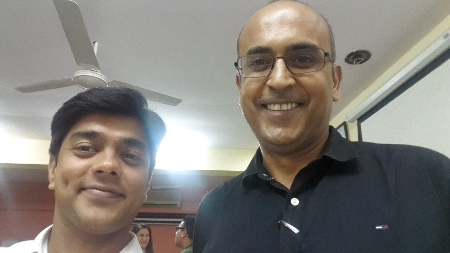 Dharmendra Rai and Ananth V Mumbai Mind Map Trainer