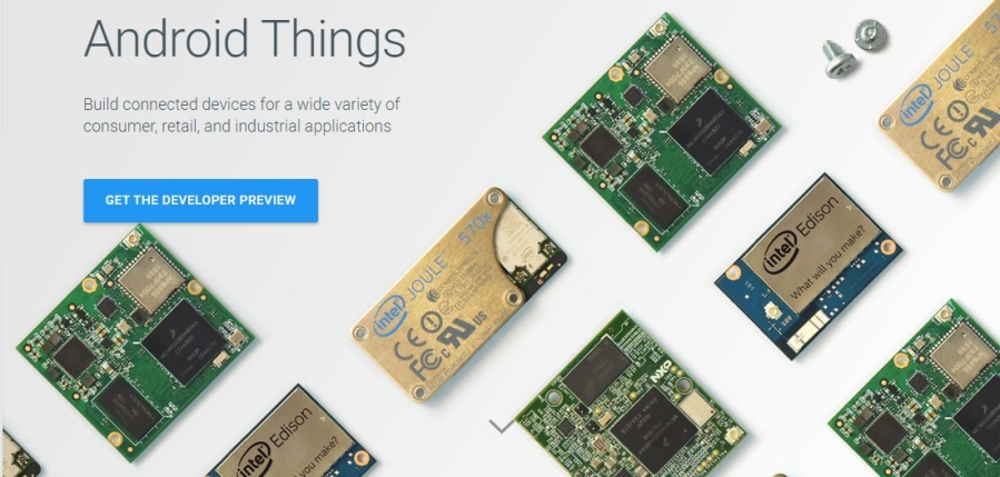 New OS from Google Android Things for Internet of Things IoT