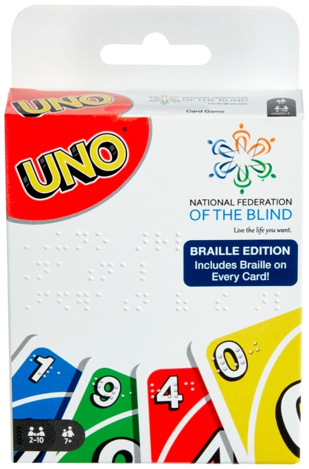 UNO® Braille Deck National Federation of the Blind Mattel